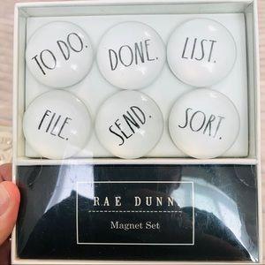 Rae Dunn 6 pc Magnet Gift Set TO DO DONE LIST NIB
